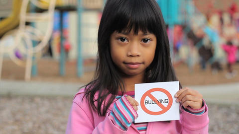 No Bullying Message On School Playground Close Up Footage