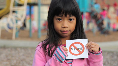 No Bullying Message On School Playground Close Up Stock Video Footage