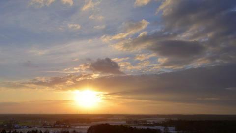 sundown winter clouds time lapse 10870 Footage
