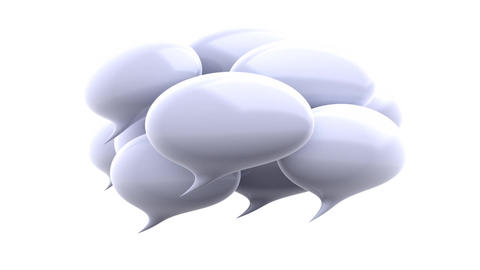 White speech bubbles Animation