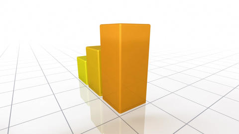 Animated Bar Graph Stock Video Footage