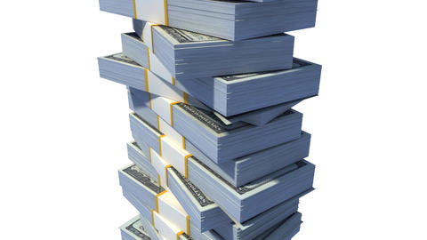 Roof on a stack of dollars Stock Video Footage