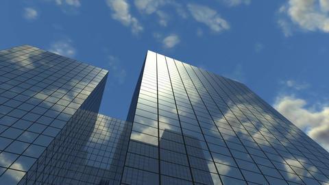 High Corporate Buildings Looping Stock Video Footage