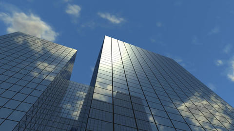 High Corporate Buildings Looping Animation