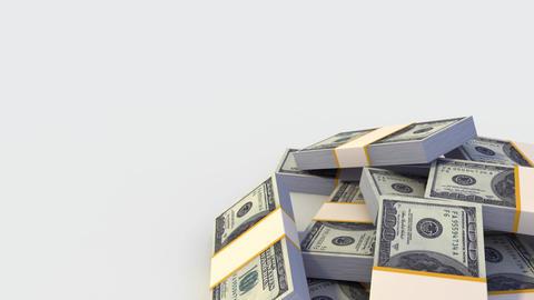 Stack of Dollar bills. Looping Stock Video Footage