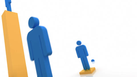 Looping Rising Business People Animation