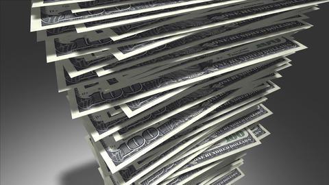 Stack of dollar bills Stock Video Footage