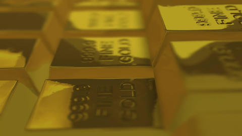 Looping Gold Bullions Stock Video Footage