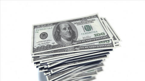 Stack of dollar bills Stock Video Footage