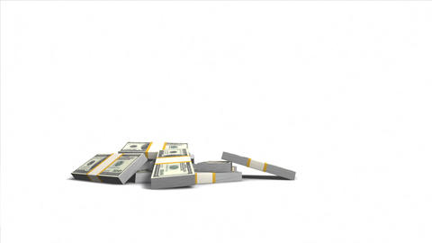 Increasing value of dollar. 3D bar graph Stock Video Footage