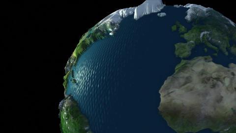 Rotating Earth Globe Stock Video Footage