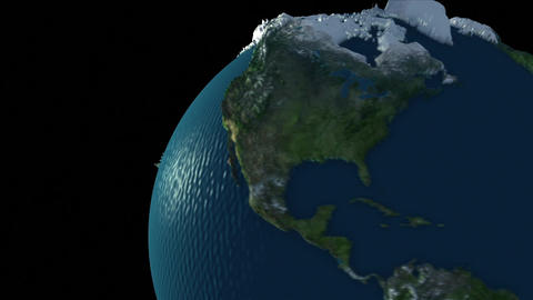 Rotating Earth Globe Animation
