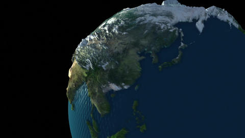 Rotating Earth Globe Stock Video Footage