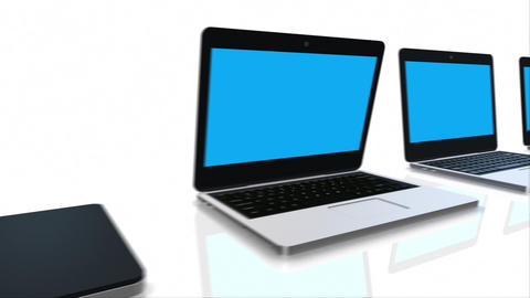 Opening Laptop Computers stock footage