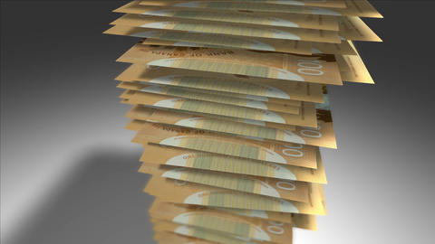Huge stack of 100 Canadian Dollar bills Stock Video Footage