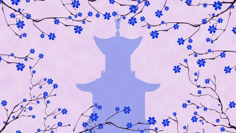 Cherry Blossoming Pagoda 5 Animation