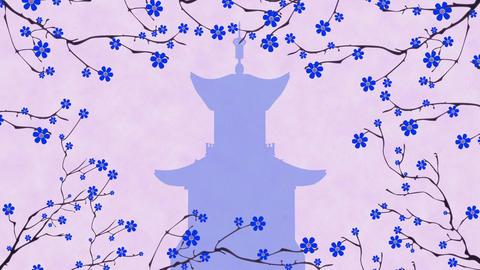 Cherry Blossoming Pagoda 5 Animation