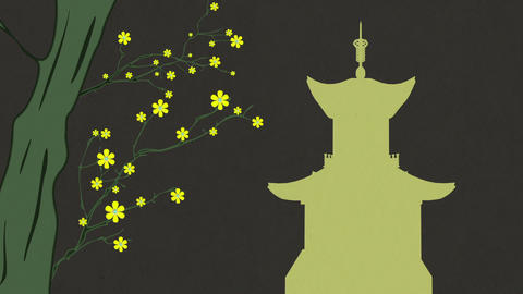 Cherry Blossoming Pagoda 9 Animation