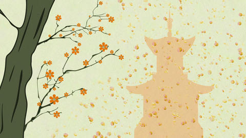 Cherry Blossoming Pagoda 13 Animation