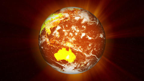 Earth Global Warming Stock Video Footage