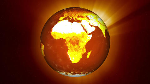 Earth Global Warming Animation