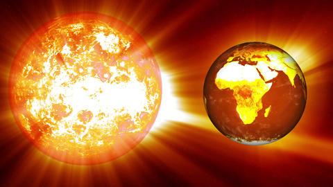 Earth Global Warming Change 2 Animation