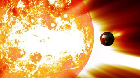 Earth Global Warming Change 4 Stock Video Footage