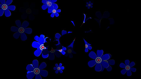 Flying Flowers 4 Stock Video Footage