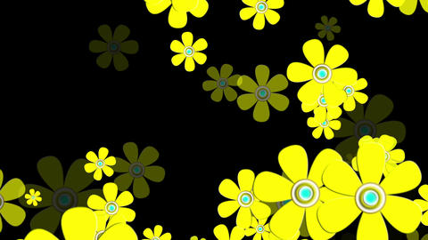 Flying Flowers 8 Animation