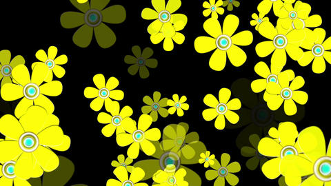 Flying Flowers 8 Stock Video Footage