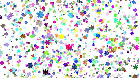 Flying Flowers 25 Animation