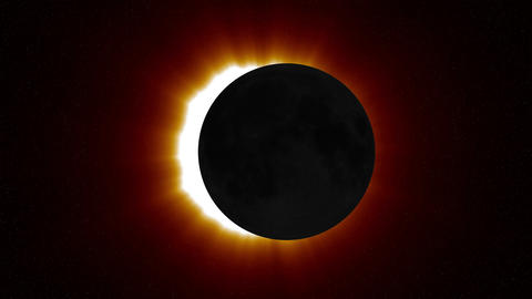 Solar Eclipse 1 Stock Video Footage