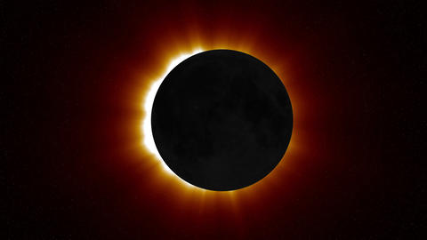 Solar Eclipse 1 Stock Video Footage