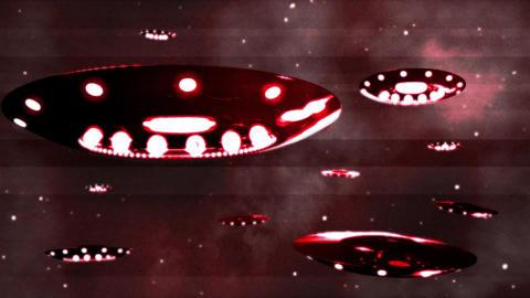 Ufo Invasion 3 Stock Video Footage