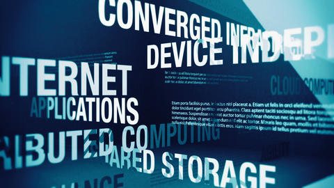 Cloud Computing Services and Related Terms Stock Video Footage