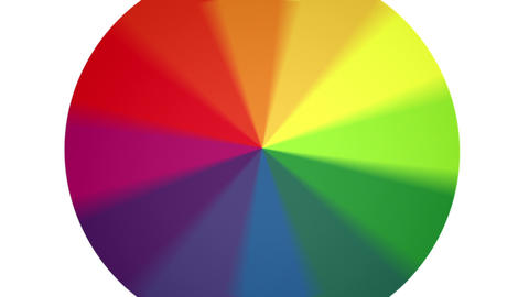 Spinning Color Wheel (Contains Looping Section) Stock Video Footage
