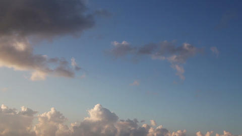Fast cloud movement on blue sky Footage