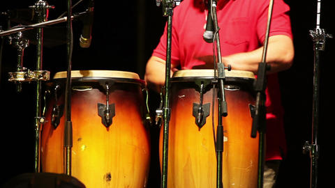 Man playing percussion on the concert Stock Video Footage