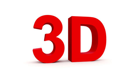 3D red - 4 rotations pack with alpha matte, 30fps - pre-rendered on black, isola Animation