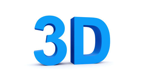 3D blue - 4 rotations pack with alpha matte, 30fps - pre-rendered on black, isol Animation