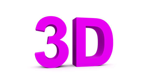 3D purple - 4 rotations pack with alpha matte, 30fps - pre-rendered on black, is Animation