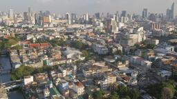 City skyline from Bobae,Bangkok,Thailand Footage