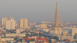 Rama VIII bridge,Bangkok,Thailand Footage