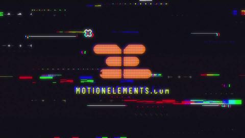 Game Glitch Logo Premiere Pro Template