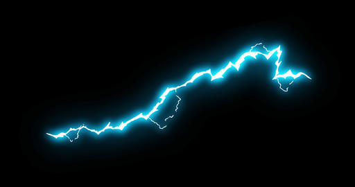 3 Step Long Thunder Electrical Cartoon Animation 37 Animation