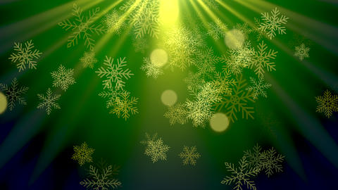 Abstract bokeh and snowflake falling. Happy New Year and Merry Christmas shiny background Animation