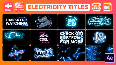 Electricity Titles Collection After Effects Template