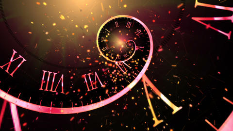 New Year Clock Stock Video Footage