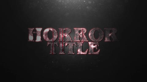 HORROR TITLE INTRO After Effectsテンプレート