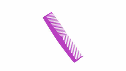 Purple plastic comb Animation